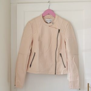 Cupcakes & Cashmere Pale Pink Vegan Leather Jacket